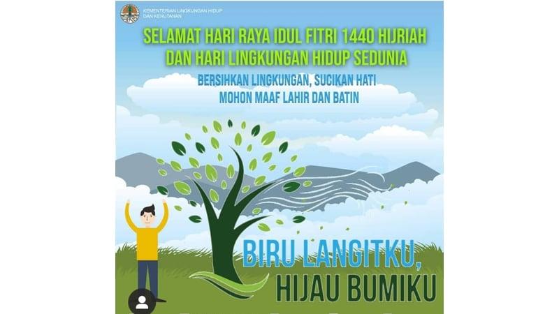 Hari Lingkungan Hidup Sedunia diperingati setiap tanggal 5 Juni (grafis: Instagram @kementerianlhk)