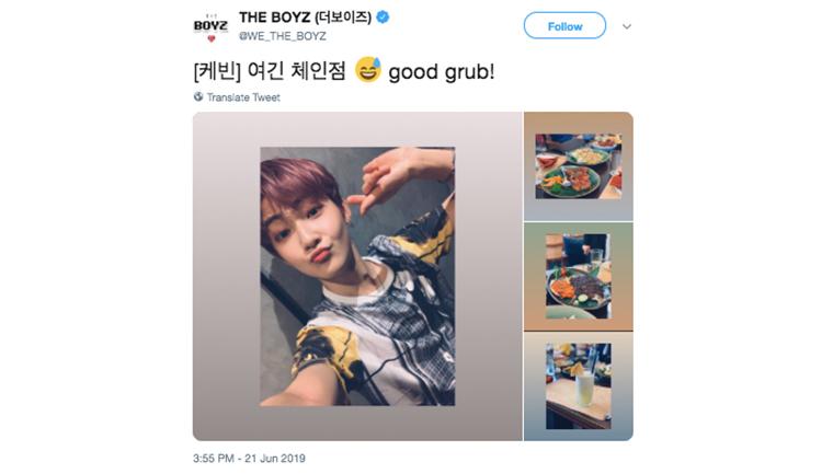 Grup K-Pop The Boyz cicipi kuliner Indonesia (Sumber foto: Twitter)