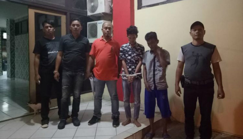 Dua pemuda Palembang ditangkap sebab modus pura-pura jadi korban begal demi menghindari angsuran motor (Foto : Kompas)