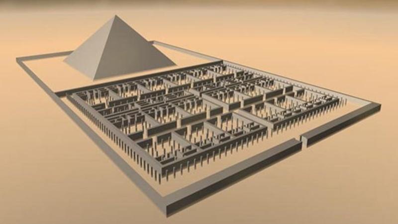 Foto rekaan komputer penampilan labirin tertua di Mesir (sumber: ancient-origin.net)