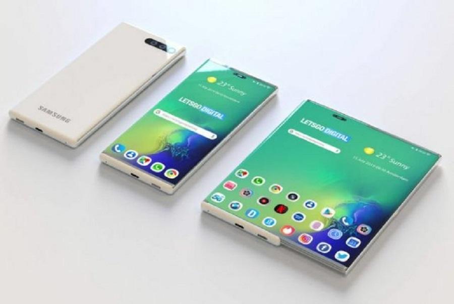 Produk Smartphone Samsung dengan layar yang bisa dilebarkan. (Foto: letsgodigital.org )