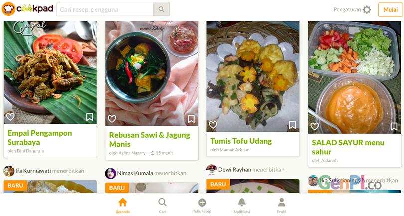 Website resep yang bisa dijadikan acuan untuk membuat menu buka puasa