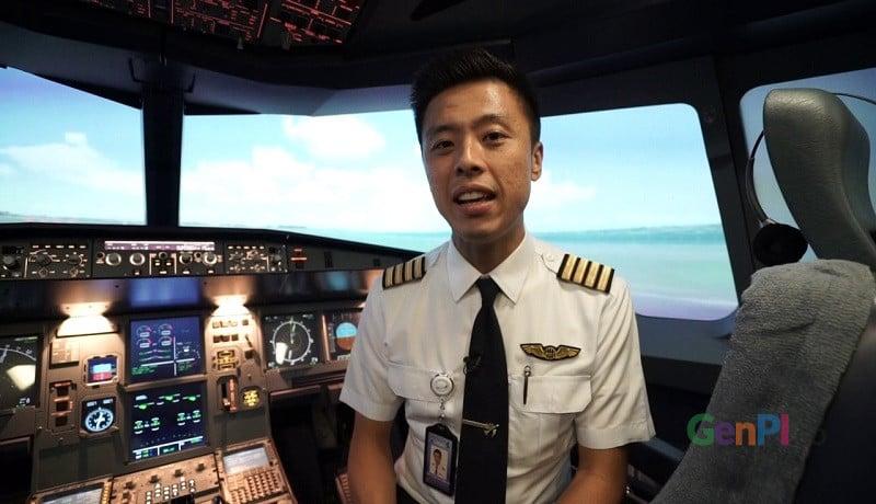 Pilot Vincent Raditya. (foto: Asep)