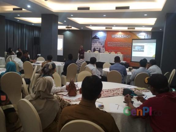 workshop Rencana Aksi Pengembangan Pariwisata Halal di Hotel Kyriad Muara Banda Aceh, Selasa (21/5).