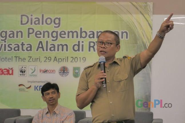 Kepala Balai Besar KSDA Riau, Suharyono. Foto Heru/GenPI.co