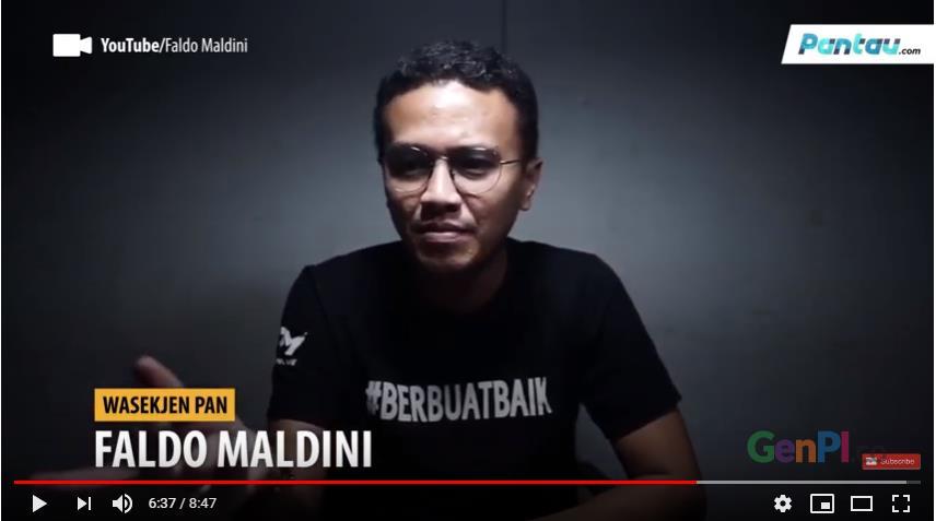 Cuplikan video Faldo Maldini yang menyatakan, Prabowo-Sandi tak mungkin menang di MK. (Foto: Youtube)