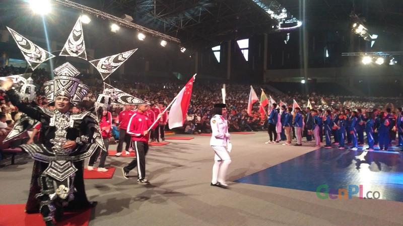 Acara pembukaan ASEAN Schools Games berlangsung meriah di Holy Stadium, Kota Semarang, Jawa Tengah, Kamis, 18 Juli 2019 (Foto: Diskominfo Jateng)