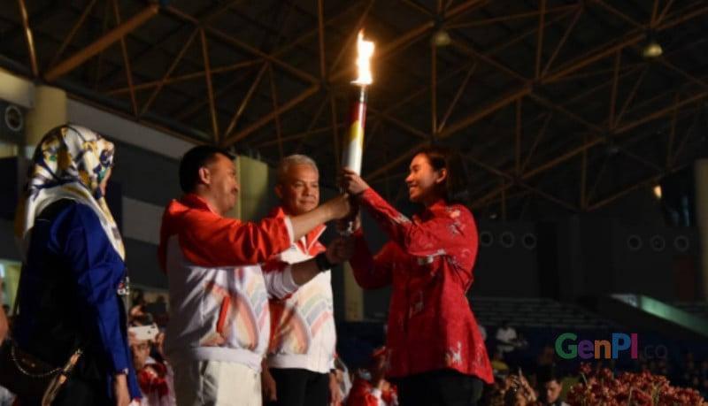 Gubernur Jateng Ganjar Pranowo pembukaan pidato bahasa Inggris di Asean Schools Games